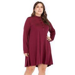 Plus Size Women Dresses Office Ladies Dress Casual Party Dresses Fashion Dress 5xl Red