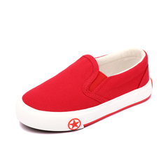 Kid's Canvas Shoes  Simple Casual Shoes red 24