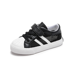 Kids Shoes Summer sandals Mesh shoes Microfiber Leather  Ventilation Simple shoes black 24