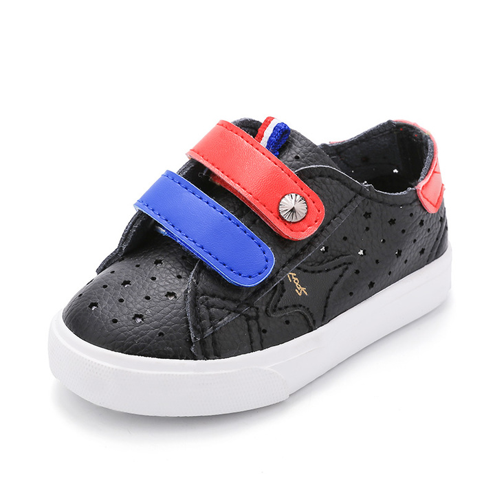 Boy's/Girl's  Microfiber Leather Shoes Solid Color Casual Shoes black 19