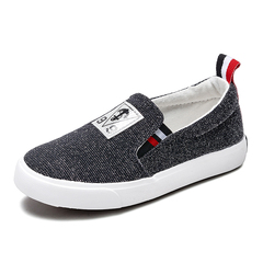 Kid's Fashion Canvas Shoes Simple Solid Color All Match Shoes black 24