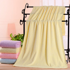 2pcs/set Superfine fiber microfiber Towel absorbent drying bathroom towel beach towel body towel Yellow 70*140CM
