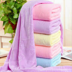 1pc Superfine fiber 70*140 microfiber absorbent drying bathroom towel beach towel body towel Blue 70*140cm