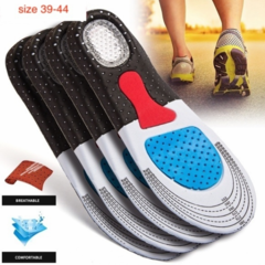Men's Fashion Silica Gel Insoles Orthotic Sport Shoes Insoles design for Outdoor & Indoor Gary+Black 41-45