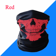 Skull Mask Scarf Joker Headband Balaclavas for Cycling Fishing Ski Motorcycle,Sport,running Red