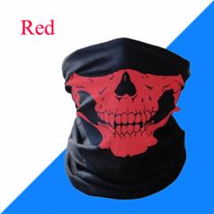 Skull Mask Scarf Joker Headband Balaclavas for Cycling Fishing Ski Motorcycle,Sport,running Red