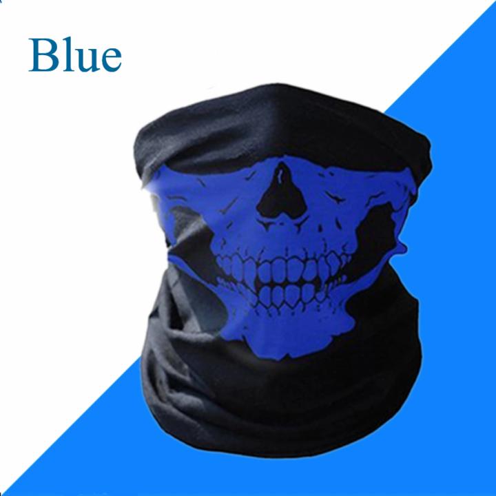 Skull Mask Scarf Joker Headband Balaclavas for Cycling Fishing Ski Motorcycle,Sport,running Blue
