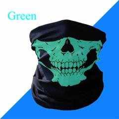 Skull Mask Scarf Joker Headband Balaclavas for Cycling Fishing Ski Motorcycle,Sport,running Green