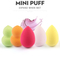5pcs Makeup Sponge Cosmetic Puff for Face Coverup fashion Water Droplets/Gourd Shape Random