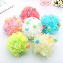 3pc/set Color Bath Ball Good for Body Bathing Mesh Shower Ball color comfortable sponge for family Random color