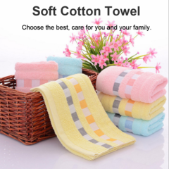 Home Bathing Face Towel Bamboo Cotton Towel Strong Water Absorbing Blue 34*74 cm
