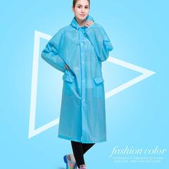 Portable Raincoats Rain Poncho with Hoods and Sleeves, fashion Rain Coats for women/men&Rain Wears Blue M
