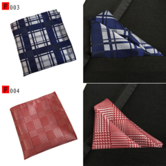 3/6 packs Men's Grid pattern Handkerchief set Square Towel for Suit in Wedding,Party,Business 6pcs Different Colors 25*25cm