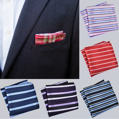 Pocket Squares Handkerchief Strip pattern scarf For Wedding Party, Business fashion Hot sale 1 22*22cm