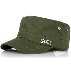 Unisex Flat Caps Causal&Work Hats with Sport Logo for Women's & Men's Hand out Suit Army green One size