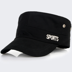 Unisex Flat Caps Causal&Work Hats with Sport Logo for Women's & Men's Hand out Suit Black One size