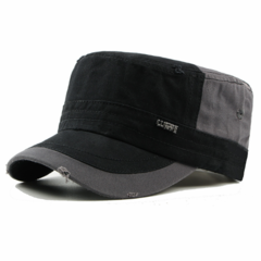 Men's Fashion Classic Adjustable Plain Flat Hats, Color matching Sport Caps,Men's Accessories Black One size