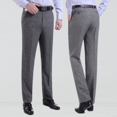 Thin Men's casual pants men's trousers middle-aged high waist thin men's casual long pants wholesale Deep gray 30