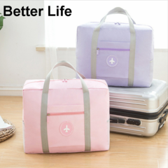 Oxford cloth waterproof Travel Bags Carry-on Tote Shoulder Bag big size Women's shipping handbags Pink 45*35*17cm