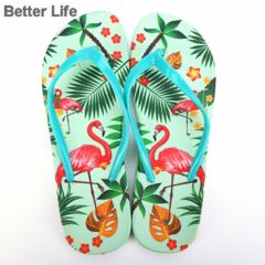 Soft Comfort Flamingo Thong Style Flip Flops for Women with Comfortable Walk, home slippers&Sandals Green 36