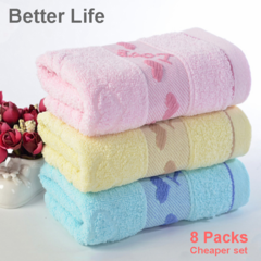 8pcs/set 100% cotton soft face towel,bath towel for sweating,Bathing Towel,Baby Towel 3 Random Colors 33*73