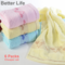6packs 100% Cotton Soft Cheaper Towels set,Quality Face towels Bathroom products sweating absorption Random Color Mixing 33*73