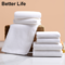 Solid White Square Towel/Face Towel/Bath Towel Quality Hotel Towels Soft Comfortable Absorption Pure White Bathing Towel-70*140cm