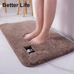 4 Size Soft mats Foot Pads for Bathroom Rugs,Floor mats,Thickening Doormats,bedroom,room carpets Brown 50*80cm