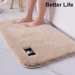 3 Size Soft mats Foot Pads for Bathroom Rugs,Floor mats,Thickening Doormats,bedroom,room carpets Creamy-White 60*90cm