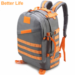 40L Army Men's Outdoor Backpack Rucksacks Men's Bags for Outdoor Hiking Camping Trekking with Flag Orange 51*38*18cm