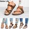 Mother's Gift Thong Flat Sandals Gladiator Buckle Strap Cork Sole Summer Flip Flops Mother's Shoes 1-Leopard 39