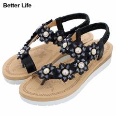 2019 Black Queen Summer Pearls Sandals Ladies Office shoes Open Shoes Flip Flops Women's Slippers Black Queen 36