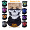 Skull Mask Scarf Joker Headband Balaclavas for Cycling Fishing Ski Motorcycle,Sport,running White