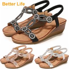 Women's Espadrille Wedge Platform Peep Toe Sandals Lace Up Ankle Wrap Shoes Slingback Dress Shoes Black 35