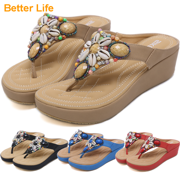 Women/'s Shoes Sandals High-heeled Slipsole Leopard Black Apricot Wedge Buckle