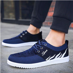 shoes 1 pair men sports casual rubber shoe male adult breathable hot light fashion new comfortable blue 39