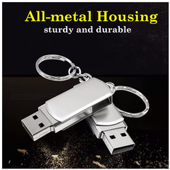 Metal Multifunctional USB 2.0 Flash Drive Pendrive Gift 32GB silver onesize 32gb