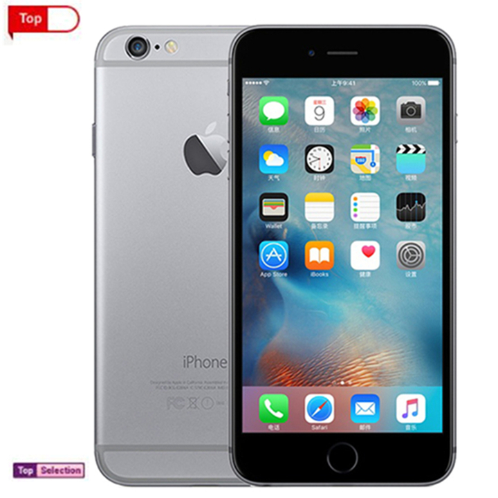 Smart Refurbished Apple iphone6 iphone 6 Cell Phones 4G+32G Phone  Charger Line Cover Gift black 32g with fingerprint