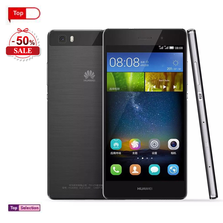 Smartphones Huawei P8 Lite Cell Phone Refurbished Mobile Phones Ram Charger Cover Bluetooth Gift black 16g (single sim card)