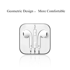 Earphones And Headphones For iphone Android Smartphones with Microphone Wire Control Sport Gift white