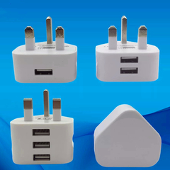 USB Smart Phone Charging Plug UK Standard Chargers Charger For Android Apple iPhone All Phones white 1 USB Charging Plug
