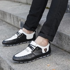 leather Shoes For Men Male Mens Newest Safety Casual Summer Breathable Fashion Shoe Gift white 39 high quality leather