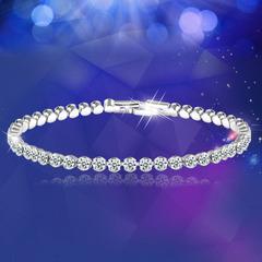 Bracelet For Women Ladies Female Austrian Crystal Silver-plated Rhinestone Shining Bracelets silver onesize