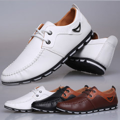 Leather Shoes 1 Pair For Men Male Mens Casual Light Breathable New Comfortable Shoe white 39 high quality leather