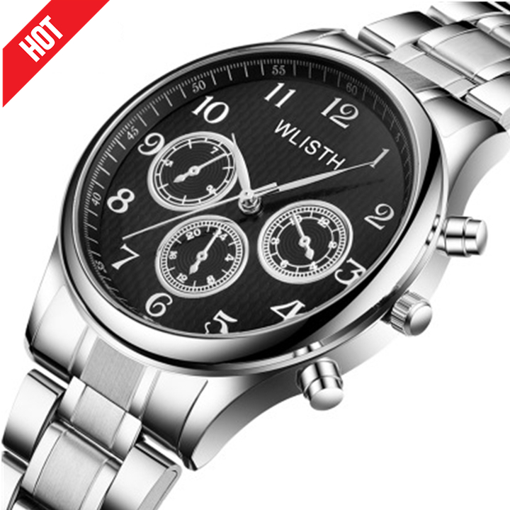 Watches For Male Female Men Mens Digital Gift Quartz Automatic Alloy Steel Waterproof Wrist Watch black onesize