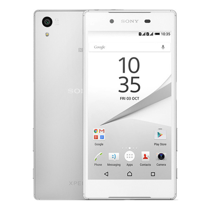 Sony Xperia Z5 E6653 Smartphone Phone 32GB+3GB Cell Phones 4G Ram Single Sim 23MP Protector Cover white 32g