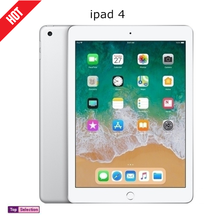 Refurbished Very New ipad4 Apple ipad 4 Tablets 9.7 inch Wifi Protector Cover Tablet Gift white 16g