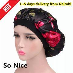 Hat For woman Sleeping Cap Fashion Head Scarf Headwear Night Sleep Hats caps women black