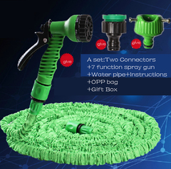 100FT Expandable Garden Hose Pipe with 7 in 1 Spray Gun To water the flowers Car Wash as picture 100FT