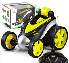 Wireless remote control 360 degree rotary toy car Boy toy car yellow 19*12*13cm